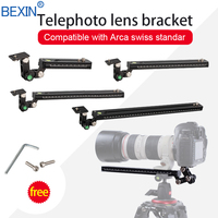 Long RRS ARCA SWISS camera tripod Quick Release Plate telephoto Lens Bracket support holder for Long Nodal Slide Rail Adapter