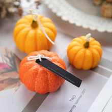 3D Pumpkin Candle Mold Handmade DIY Wax Flower Soap Silicone Mould Mousse Chocolate Cake Gumpaste Ice Chocolate Supplies M275456