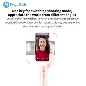 Image 3 - FeiyuTech Vlog כיס מיני כף יד Smartphone Gimbal מייצב selfie מקל עבור iPhone X 8 7 6, HUAWEI P30 פרו 、 MI 9 、 VIVO (ורוד)