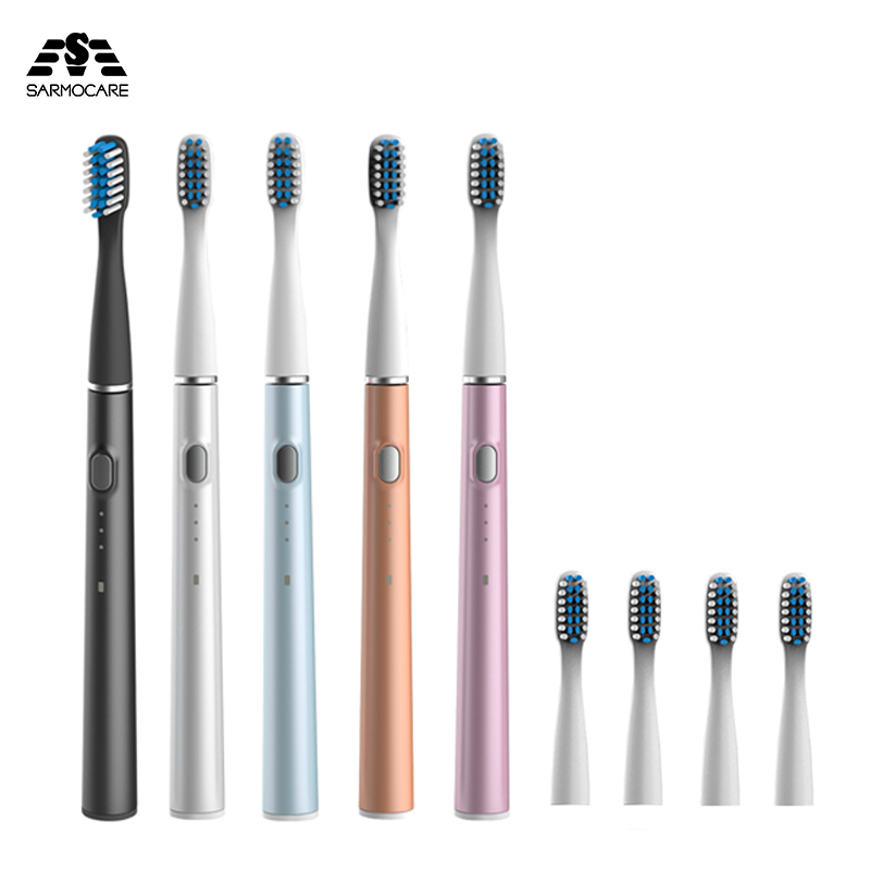 Sarmocare Electric Toothbrush Rechargeable 3 Modes Rechargeable Teeth Whiten Brush IPX7 Waterproof Clean Oral Care Toothbrush