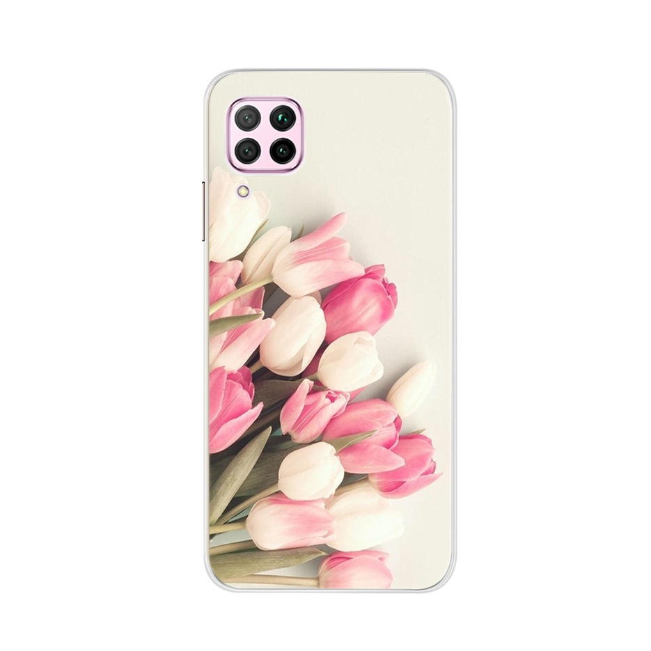 Cute Animal Case For Huawei P40 Lite Cover Soft Silicone Phone Bumper For Huawei P 40 Lite Full Cover Coque Slim Fundas 6.4 Inch