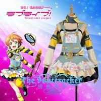 Anime LoveLive! Hoshizora Rin Cospaly Costumes Crayons/Painters Awakening Uniform Dress XS XXL In Stock Or Custom MaKe Any Size