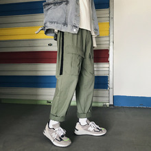 Autumn Overalls Men Fashion Contrast Color Casual Multi-pocket Tooling Trousers Man Streetwear Hip Hop Loose Straight Pants Men fashion brand denim jumpsuit men casual pants multi pockets hip hop overalls for men camouflage outdoors long trousers