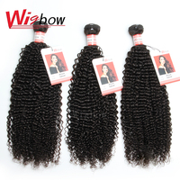 Wigbow OneCut Hair Peruvian Kinky Curly Hair Bundles Pro. Ratio Remy Human Hair Weave Extensions Natual Color 8 30 Inch
