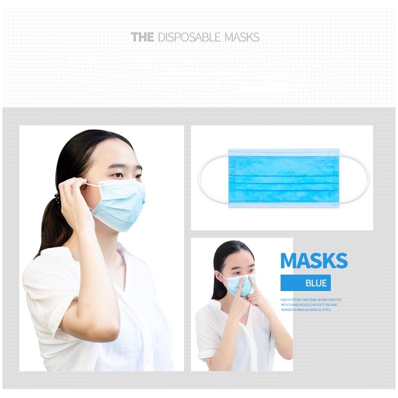 Yüz Ağız Maskeleri Anti Kirlilik Toz 3 Katmanlar Maske Anti-Toz - Güvenlik ve Koruma - Fotoğraf 6