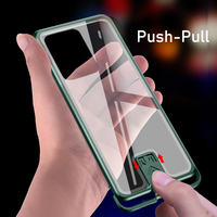 Funda de teléfono de parachoques de Metal resistente para Samsung S20 Ultra S20 Plus  funda protectora transparente de vidrio templado antigolpes S20 Ultra