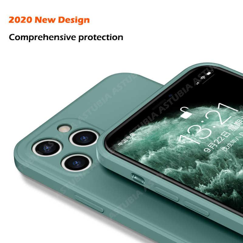 حافظة جديدة فاخرة من السيليكون السائل لعام 2020 لهواتف آيفون 11 برو ماكس 12 حافظة لهاتف آيفون X XS Max XR 7 8 6 6S PLUS SE 2020