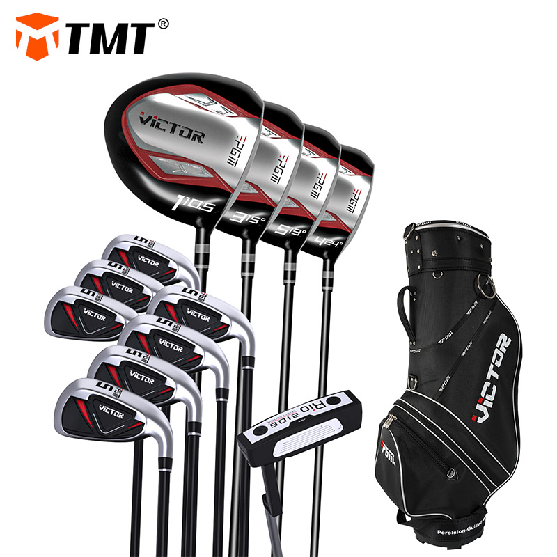 TMT 12 Piece Golf Clubs Complete Set for Men Includes Titanium Driver 3 & #5 Fairway Woods 4 Hybrid 5-SW Irons Putter and Bag 1
