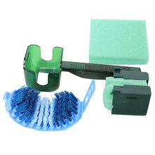 MTB Bike Bicycle Chain Cleaner Tool Set Quick Clean Tool Multi Brushes Scrubber Box цена