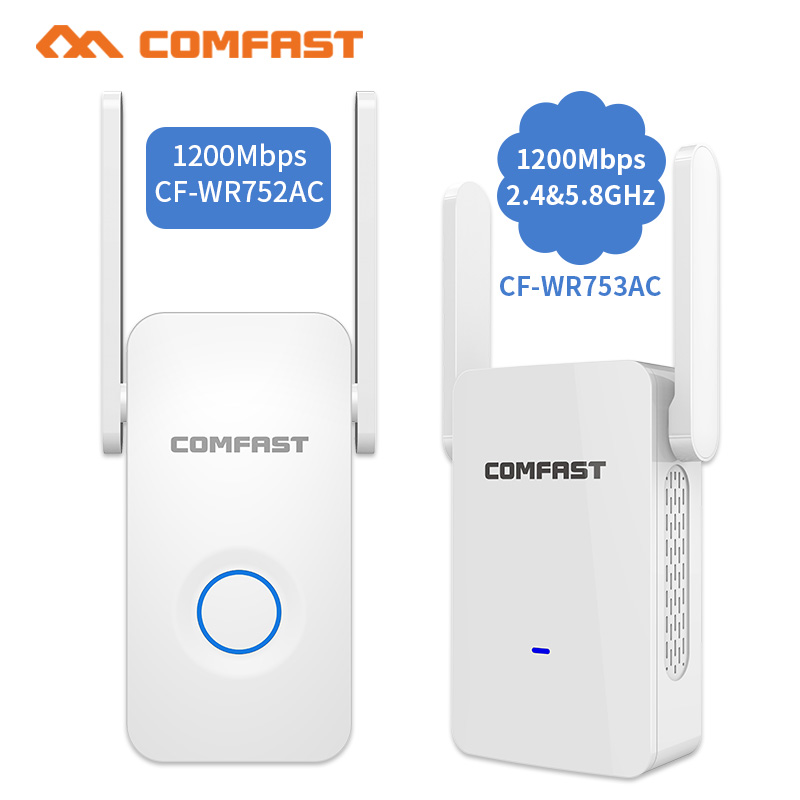 1200Mbps COMFAST Wireless WiFi Range Extender 2.4/5Ghz Dual Band Repeater Signal Booster 2 Ethernet Antennas Wi-fi Amplifer