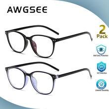 Винтажные круглые очки awgsee с защитой от сисветильник унисекс