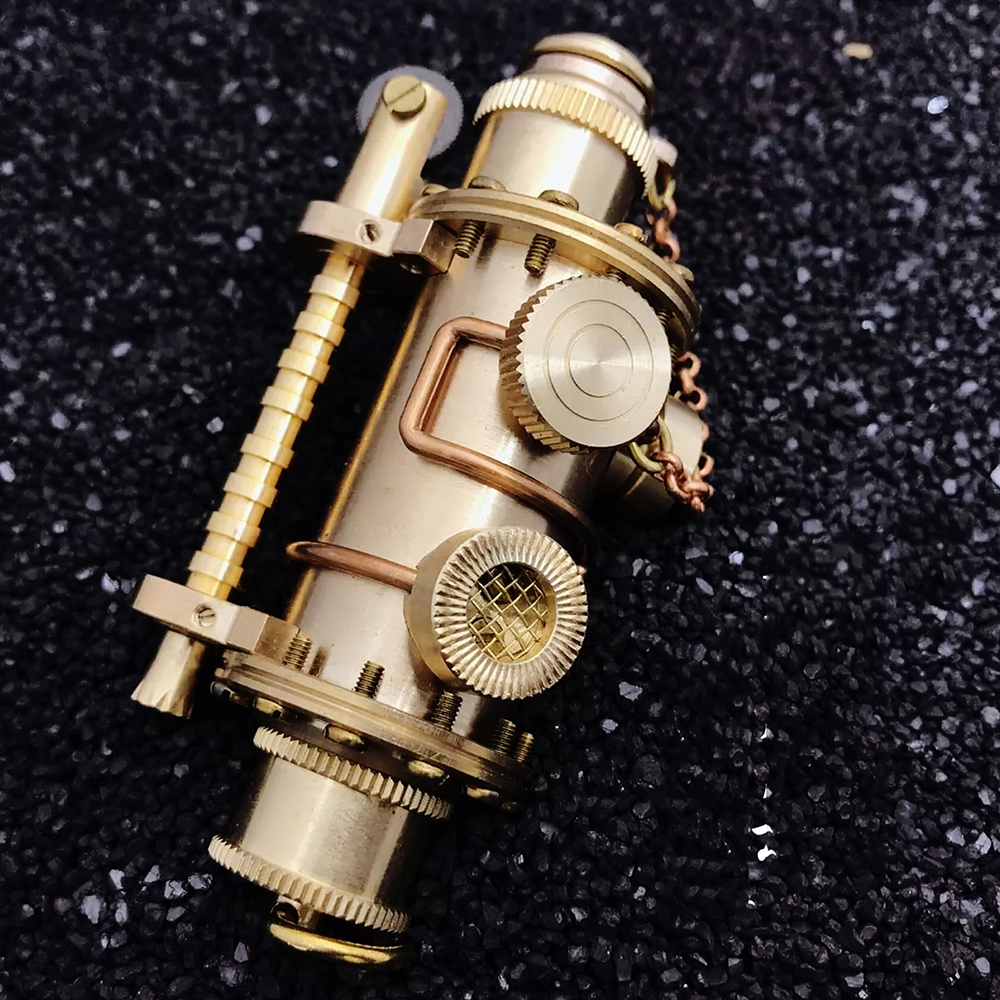Pure Copper DIY Handmade Steampunk Kerosene Lighter Submarine Styling Retro Vintage Collection Lighter Y