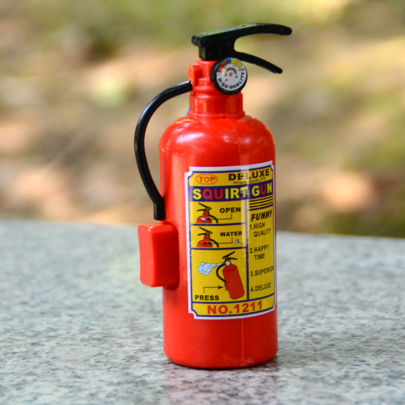 Funny Mini Fire Extinguisher Toys Whole Person Prank Toy Mini Water Gun Spray Water Children Firefighters Professional Props