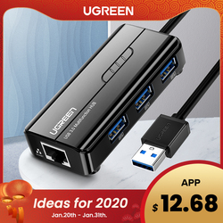 Ugreen USB Ethernet USB 3.0 2,0 zu RJ45 HUB für Xiao mi mi Box 3/S Set-top Box ethernet Adapter Netzwerk Karte USB Lan