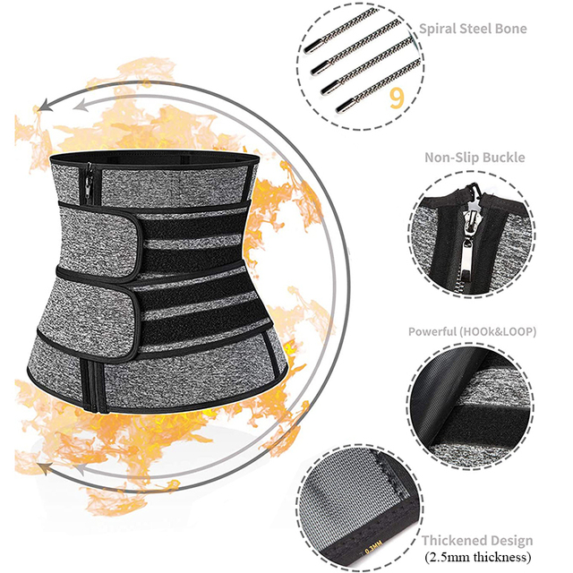 Neoprene Waist Trainer Thermo Sweat Body Shapewear Women Slimming Corset Tummy Control Belt Workout Compression Trimmer Fitness 2