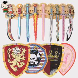 Children Toy Swords foam soft sword shield simulation performance props 2-3-5 year old male and female gifts