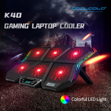 Coolcold gaming RGB laptop cooler 12-17 inch Led Screen Laptop cooling pad Notebook cooler