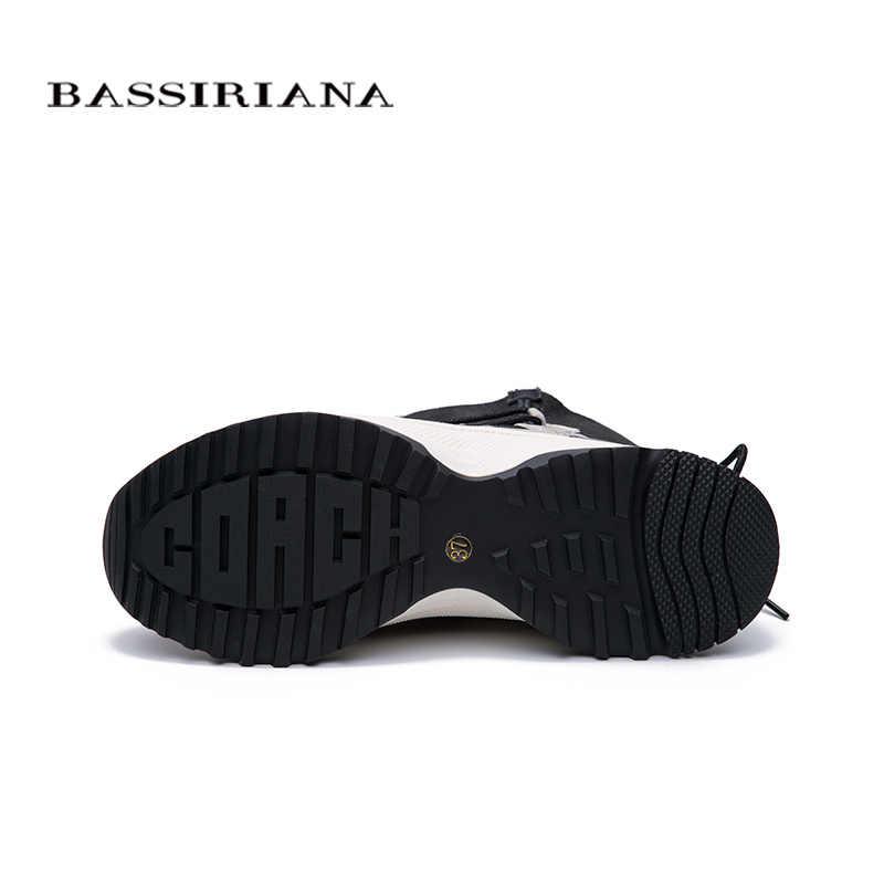 BASSIRIANA 2019 kış yeni gündelik kadın ayakkabısı platform ayakkabılar deri kürk moda sıcak kar botları
