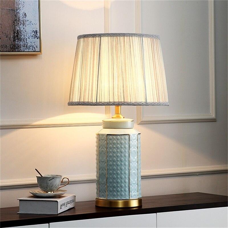 Латунные настольные лампы oufula керамический светильник для