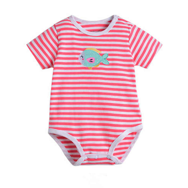 1pcs Cotton Newborn short sleeve baby bodysuits Girl Boy clothes overalls neck baby Jumpsuit kids clothing Infant 0-24M