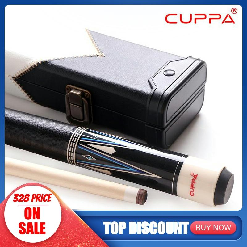 CUPPA Korean 3 Cushion Cue With Case Carom Cue Pool Cue Stick 11.75mm 13mm Tip 147cm Length With Case Set Korea