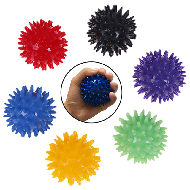 1 pc 6cm corpo inteiro espetado bola de massagem duro bola de estresse para fitness esporte exercício ouriço sensorial treinamento aperto a bola