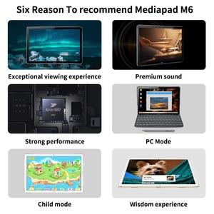 "Image 2 - Original HUAWEI MediaPad M6 10.8 ""Kirin 980 Octa Core Android 9.0 tablette type c 7500mAh 2560x1600 empreinte digitale IPS écran"