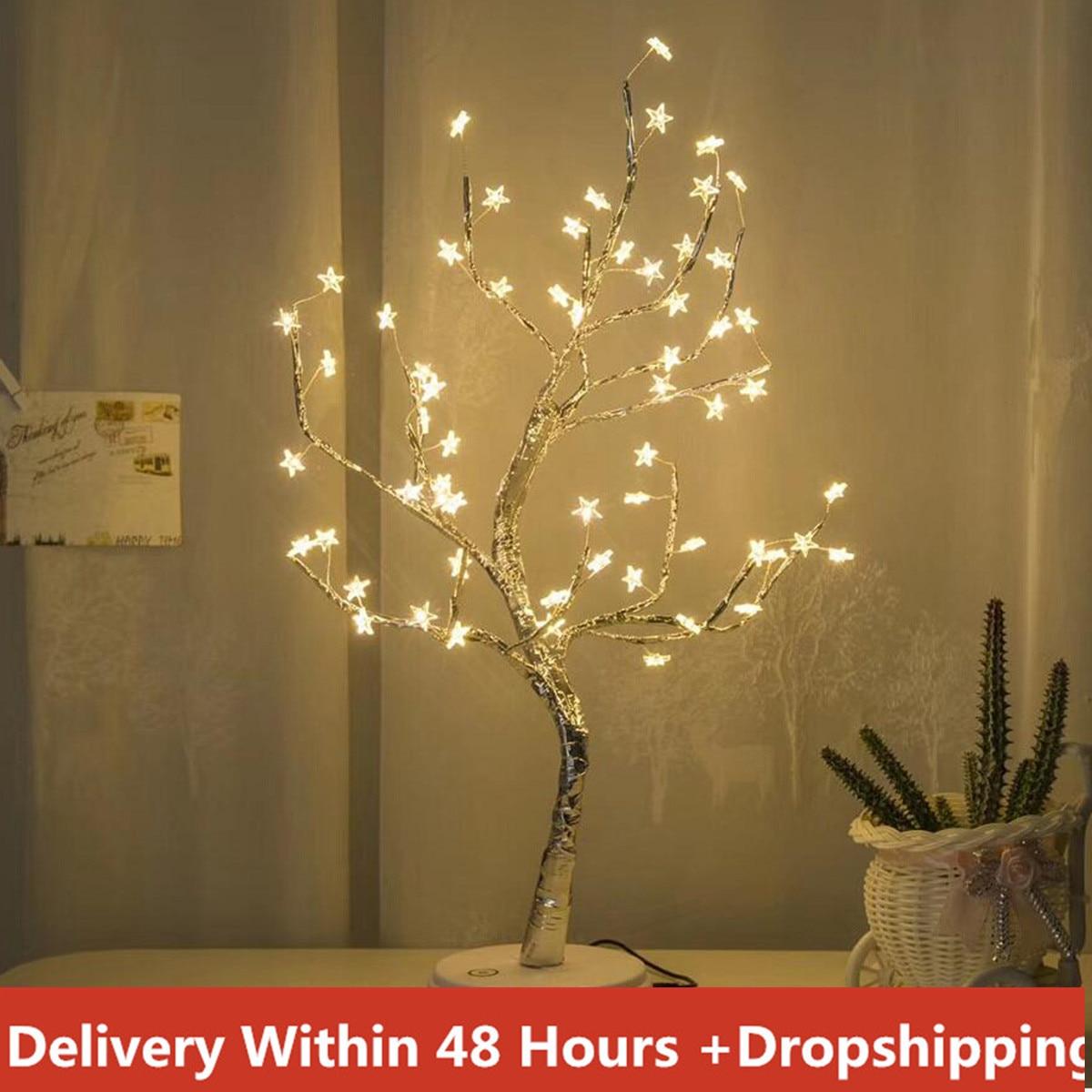 Оригинальный ALIWARM белый светодиод с 60 белыми звездами настольная лампа для украшения дома свадебная спальня Прямая поставка 20