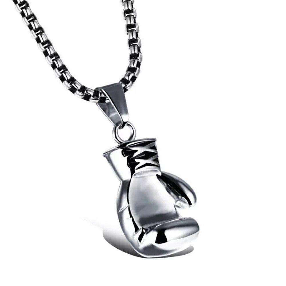 Новинка, модное милое мини-ожерелье для боксерских перчаток, классная подвеска для мужчин и мальчиков