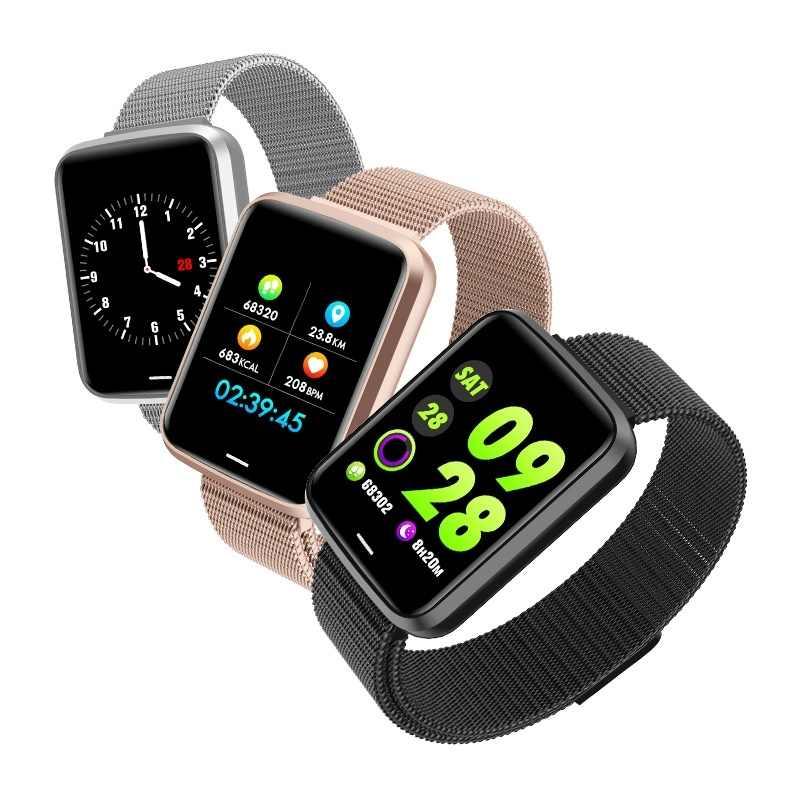 Мужской спортивный смарт-браслет с Bluetooth, музыкальный монитор сердечного ритма, кровяного давления, шагомер, часы с потреблением калорий, умные часы