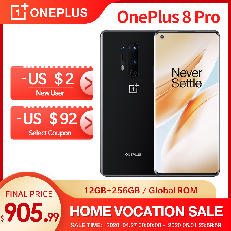 In Lager OnePlus 8 Pro 5G Globale Rom 12GB RAM 256GB ROM Snapdragon 865 120Hz Display 6.78