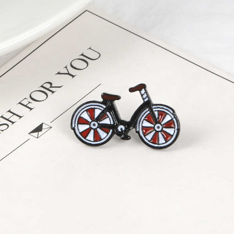 Cute Bicycle Lapel Metal Pins Promote Environmentally Sports Brooches Badges Backpack Accessories Pins Jewelry Gift For Friends