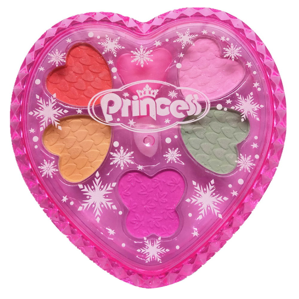 Girls Princess Makeup Toys Set Pretend Play Cosmetics Water-Soluble Eye Shadow Toy Girls Makeup Eye Shadow Palette Kit Gift