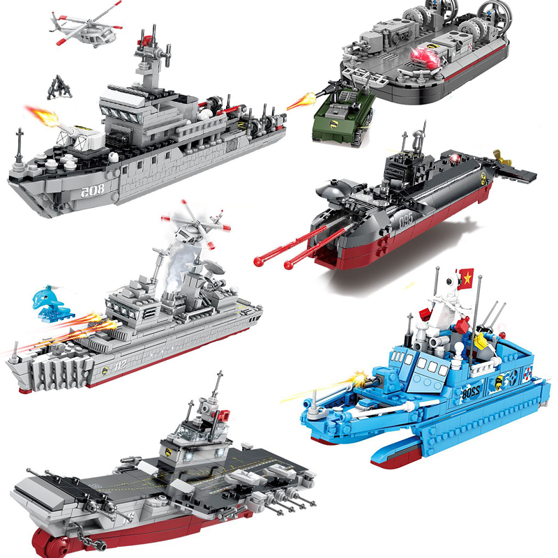Compatible Military Battle Ship Boat Model Building Destroyer Aircrafted Sets Carrier Toys China Navy Warship Submarine Blocks Aliexpress