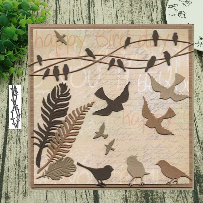 Metal Cutting Dies Flock Of Birds Cut Die Mold Decoration Scrapbook Paper Craft Knife Mould Blade Punch Stencils Die