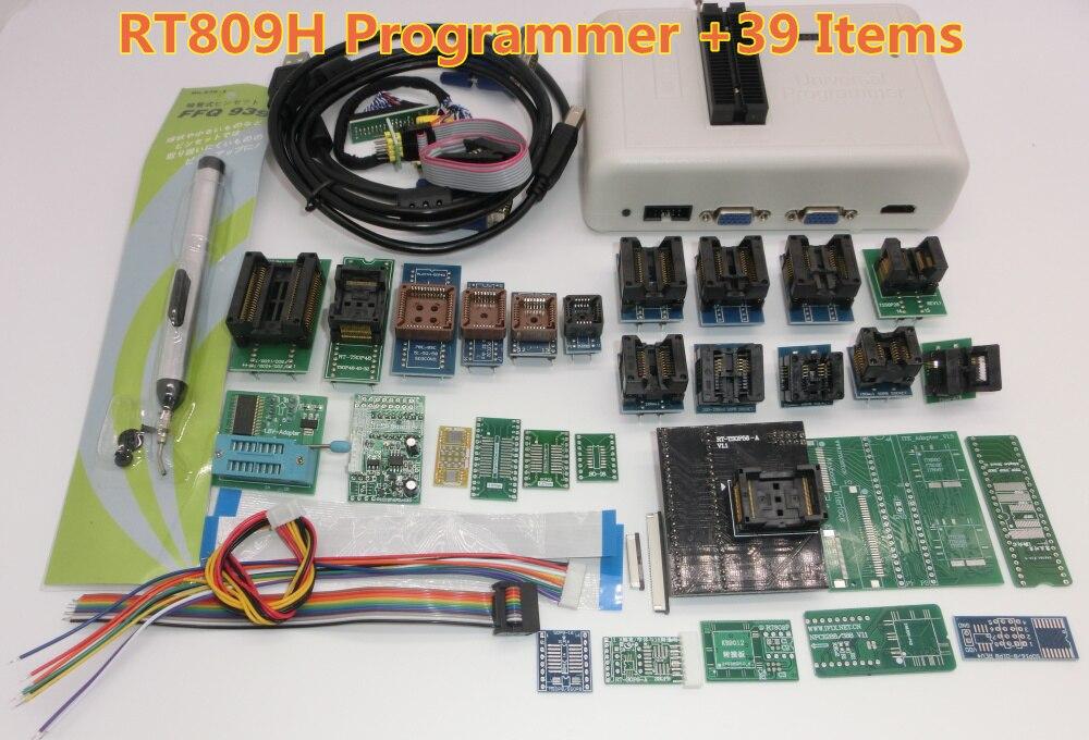 送料無料オリジナル RT809H EMMC Nand フラッシュ非常に高速ユニバーサルプログラマ + 39 アイテム + Edid ケーブルパイロットケーブル EMMC N  グループ上の 電子部品 & 用品 からの 集積回路 の中 2