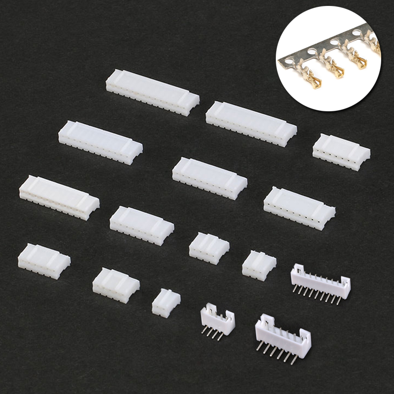 70pcs PH2.0 2p 3p 4p 5p 6p 7 Pin 2.0mm Pitch Terminal Kit / Housing / Pin Header JST Connector Wire Connectors Adaptor PH Kits