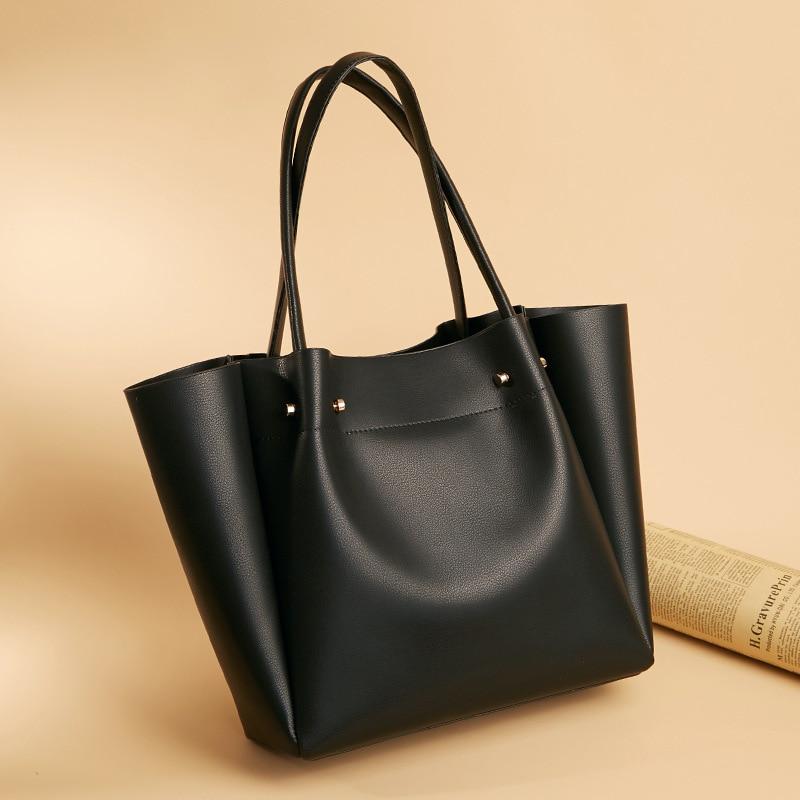 2020 New PU Leather Woman Bag Simple Fashion Hand Bag Mass Shoulder Bag