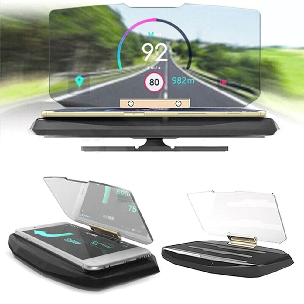 HUD Car Head Up Display GPS Navigation Projector Overspeed Warning System Projector Windshield Auto Electronic Voltage Alarm