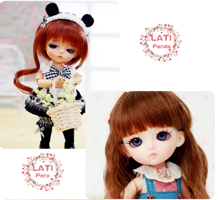 Free Face Make Up+Free Eyes 1//12 BJD Doll SD Doll Lati white T.haru haru