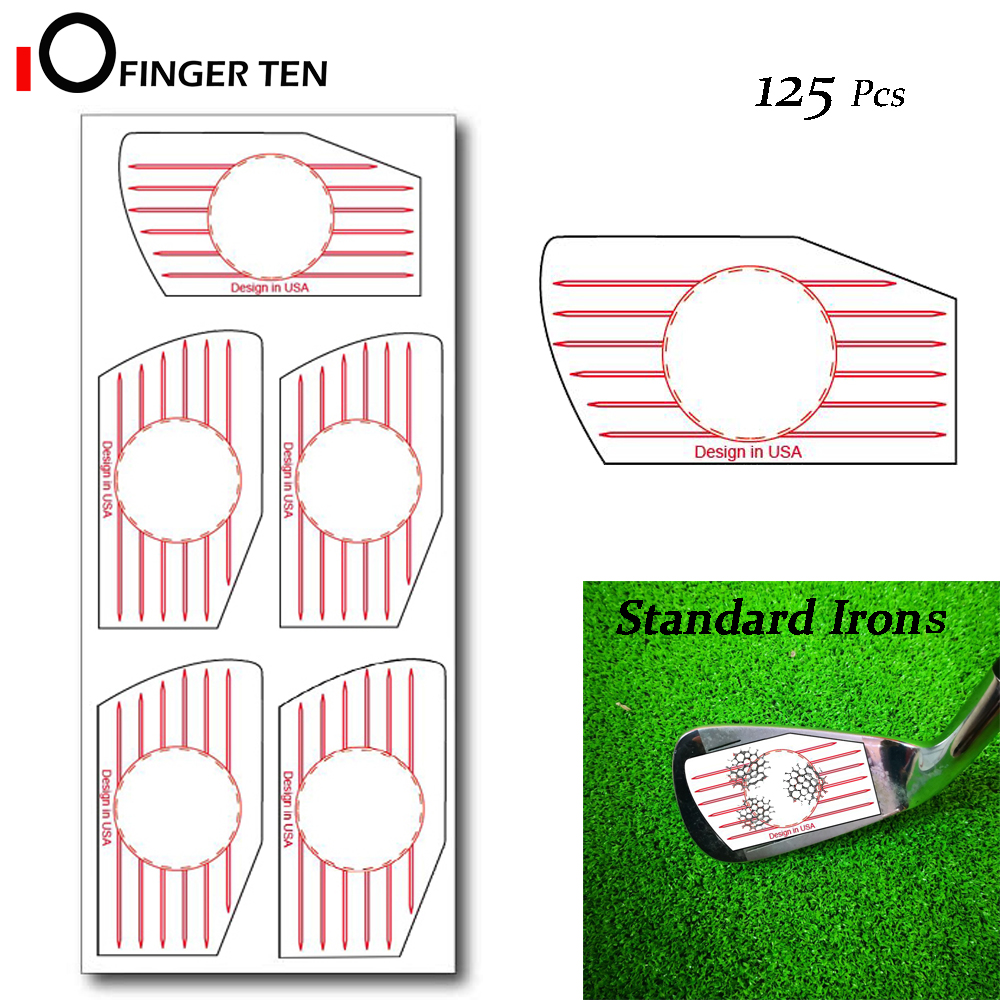 125 Pcs Golf Club Impact Tape Labels Stickers Irons Ball Hitting Board Combo Recorder Kit For Swing Training