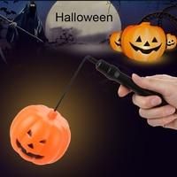 Тыква фонарь Джек-о-фонарь светильник Хэллоуин домашнее украшение оранжевый 17 см