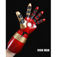 Disney Iron Man MK43 1/1 Cosplay Movable Wearable Arm Glove With Launch Sound Laser Weapon LED ABS Action Figure toys M4762