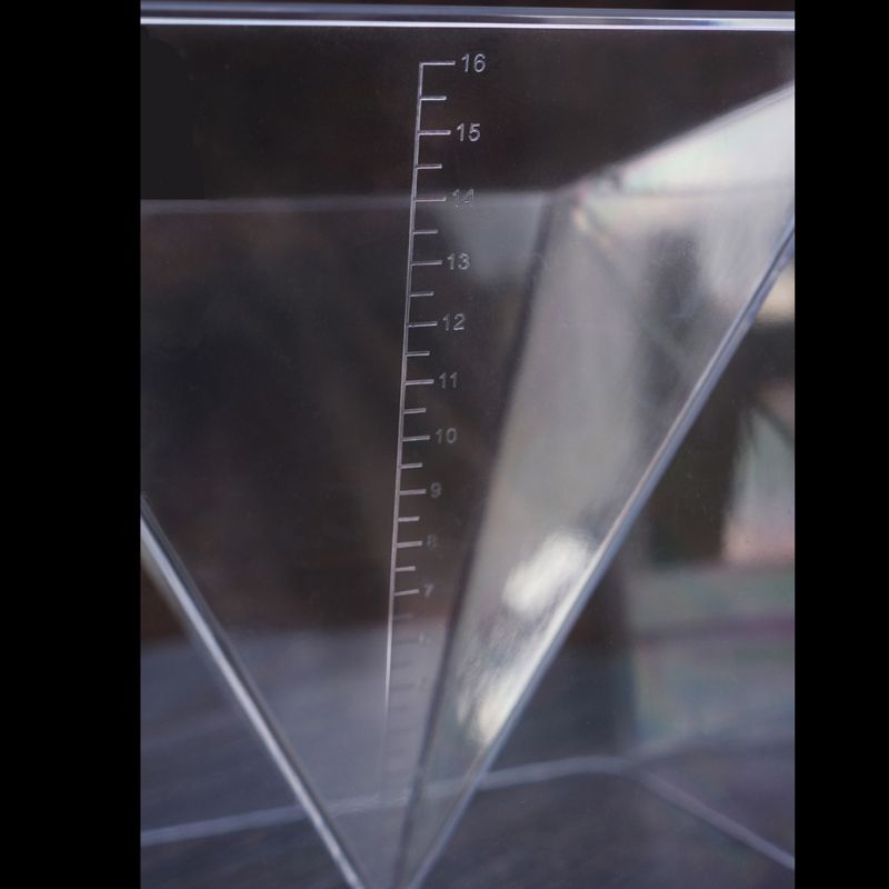 Super Pyramid Silicone Mould Resin Craft Jewelry Crystal Mold With Plastic Frame
