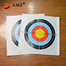 12Pcs 60x60cm Archery Targets Paper Face Target Arrow Bow Shooting Hunting Practice Training Outdooor Accessoriese