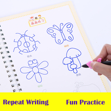 Reusable Basic Painting Copybook Hand Writing Groove Training Notebook Auto Fades Educational Toys For Children Games school