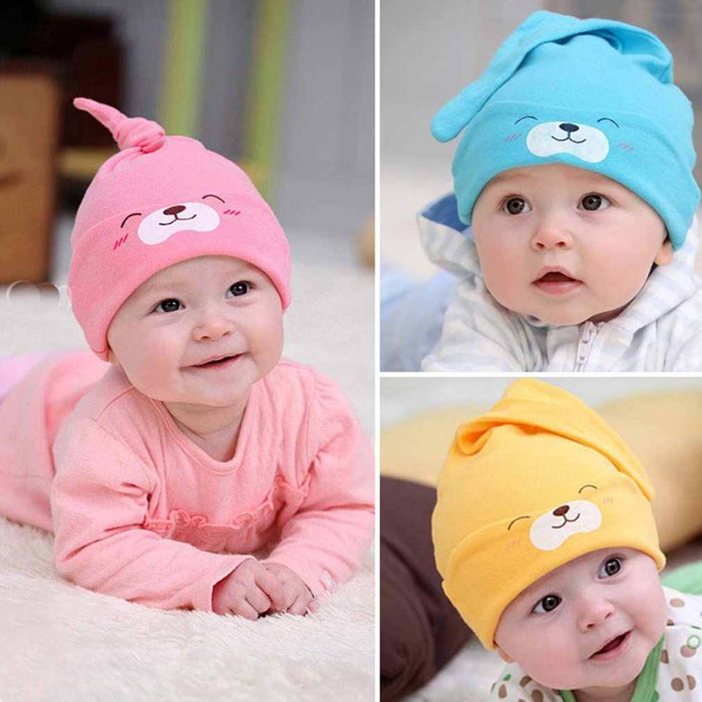 Hot Smile Cute Sleeping Cotton Chapeau Knitted Hats Comfortable Accessories Cotton Baby For Newborn Infant Girls Aliexpress