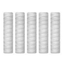 Top Sale 10 Micron 10 Inch x 2.5 Inch String Wound Sediment Water Filter Cartridge Whole House Sediment Filtration, Universal Re