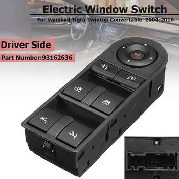 ABS Front Right Driver Side RHD Electric Window Switch For Vauxhall Tigra Twintop Convertable 2004-2016 93162636 Accessories фото