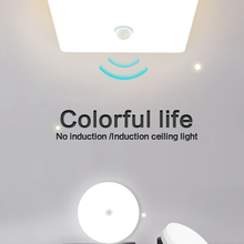 Ceiling-Lamp Neutral-Light Led-Sensor Square Bedroom Energy-Saving Round 48W 36W
